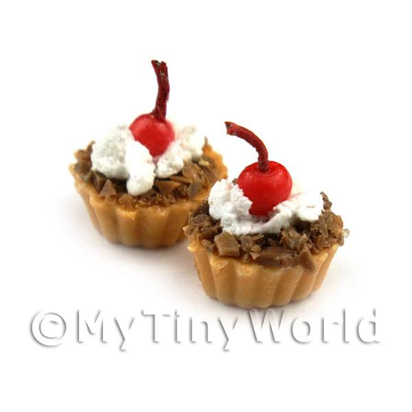 Dolls House Miniature Loose Handmade Chocolate Base Tart