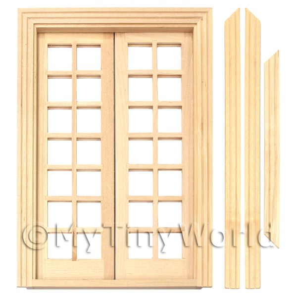 Dolls House Miniature  | Dolls House Miniature 14 Pane Double French Doors