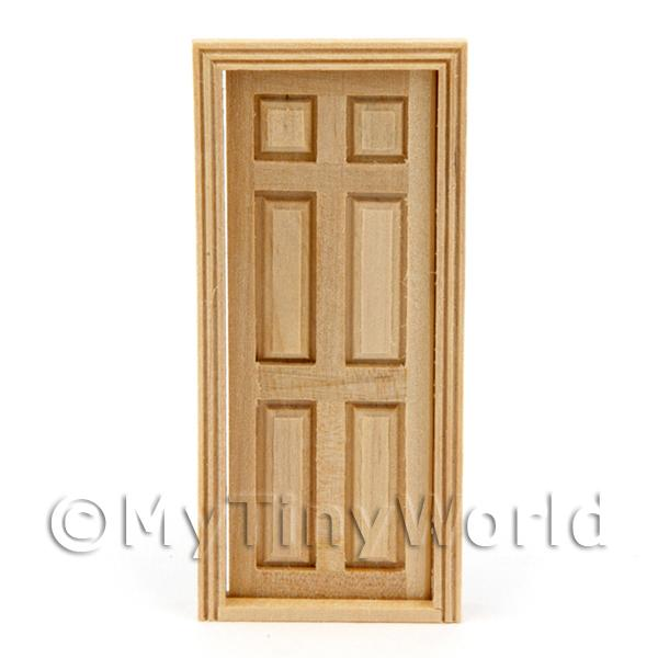 Dolls House Miniature 1:24th Scale 6 Panel Door