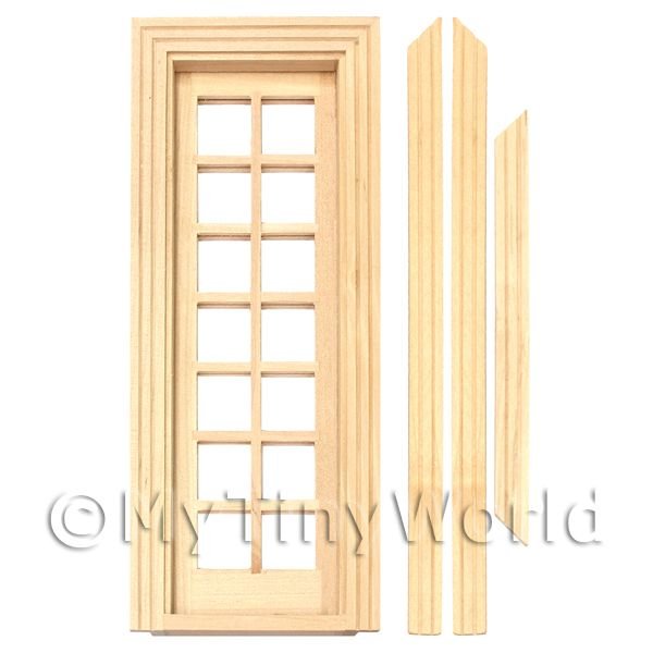 Dolls House Miniature Internal Single Glazed French Door