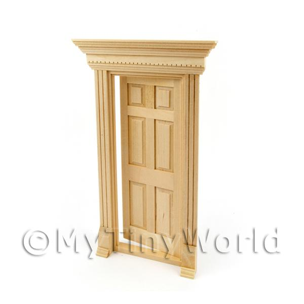 Dolls House Miniature External Door and Decorative Frame