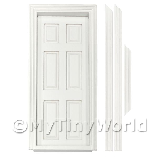 Dolls House Miniature  | Dolls House Miniature White 6 panel interior door