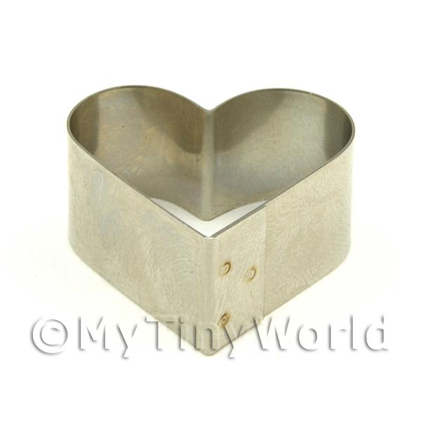 Dolls House Miniature  | Metal Heart Shape Sugarcraft / Clay Cutter (25mm)