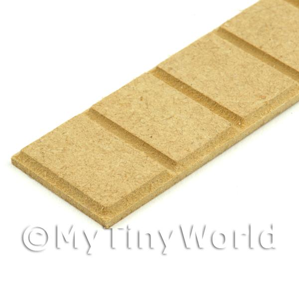 Dolls House Miniature Scale MDF Wood Quoin Strip (Style 2)