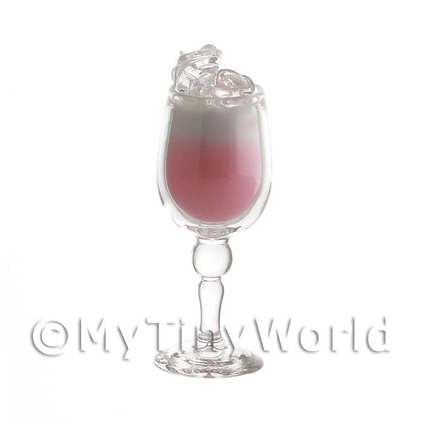 Miniature Strawberry Kiss Cocktail In a handmade Glass