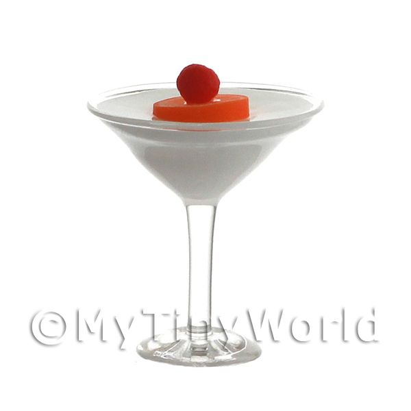 Miniature Banana Daiquiri Cocktail In A Martini Glass