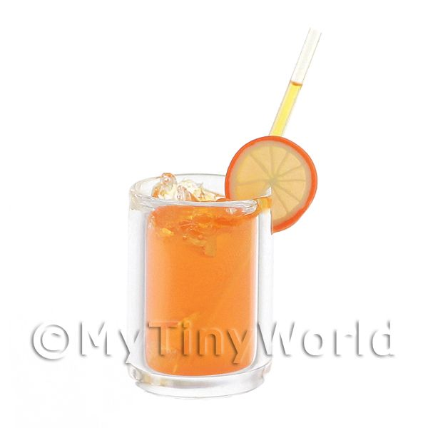 Miniature Vodka Orange Cocktail In A Long Glass