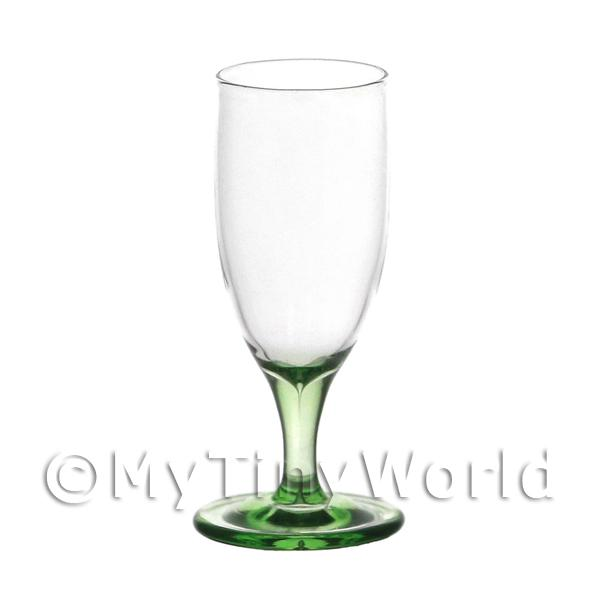 Beautiful Dolls House Miniature Handmade Green Based Wine Glass