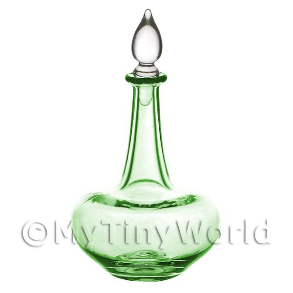 Dolls House Miniature Handmade Green Apothecary Style Glass Flask