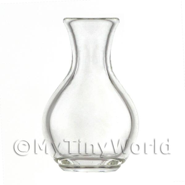 Dolls House Miniature  | Dolls House Miniature Handmade Beautiful Curved Glass Vase