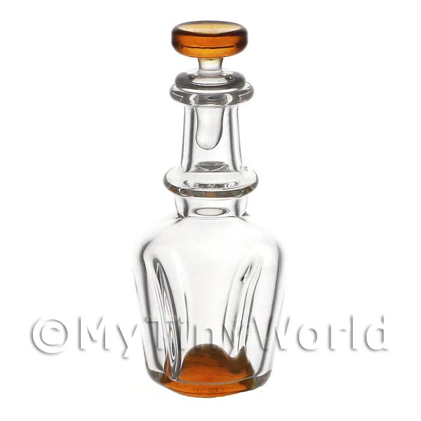 Dolls House Miniature  | Dolls House Miniature Handmade Orange Based Glass Decanter