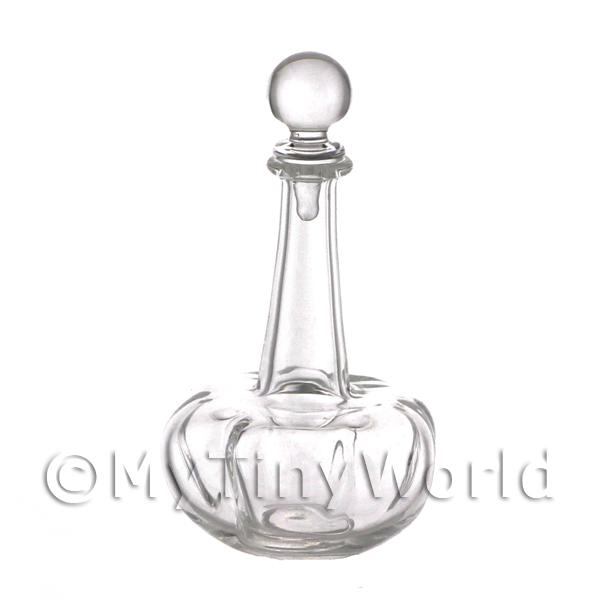 Dolls House Miniature Handmade Clear Clasp Style Glass Decanter