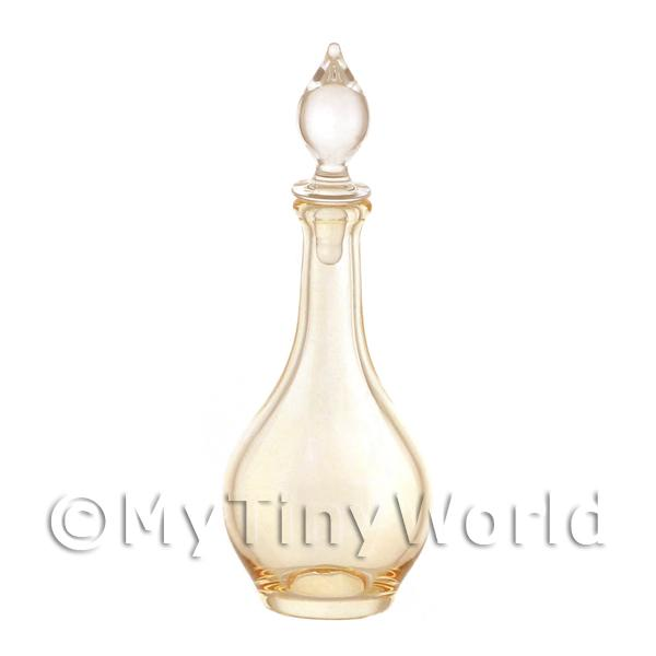 Dolls House Miniature Handmade Orange Glass Classic Curved Decanter