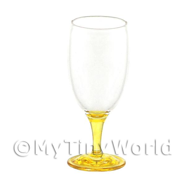 Stunning Dolls House Miniature Handmade Amber Based Wine Glass