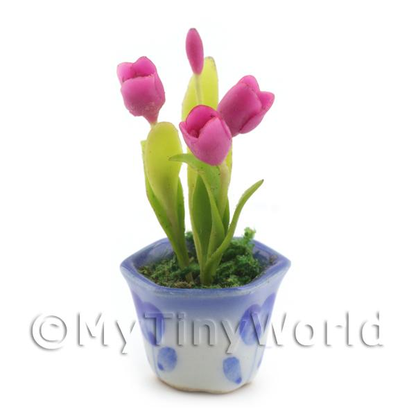Dolls House Miniature Purple Tulips