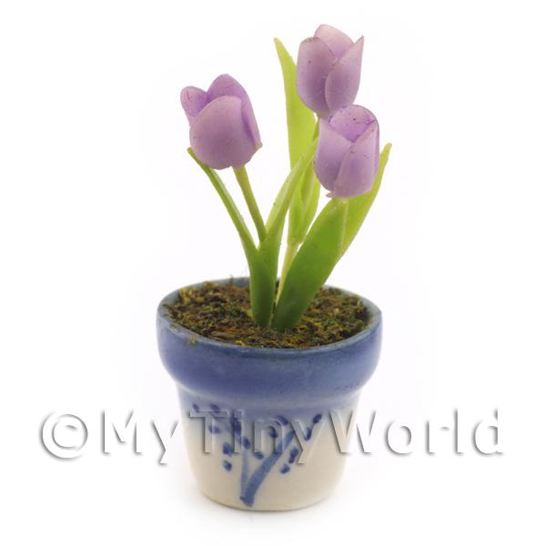 Dolls House Miniature Mauve Tulips
