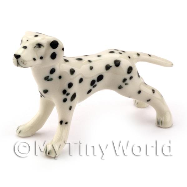 Dolls Hpise Miniature Ceramic Standing  Dalmation Dog