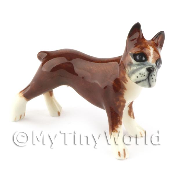 Dolls House Miniature Ceramic Bull Dog