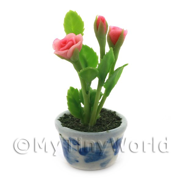 Dolls House Miniature  | Dolls House Miniature Pink Roses