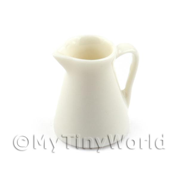 Dolls House Miniature White Handmade Ceramic Water Jug