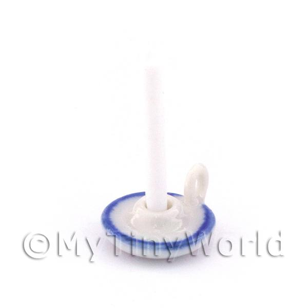 Dolls House Miniature Handmade Ceramic Candle Holder