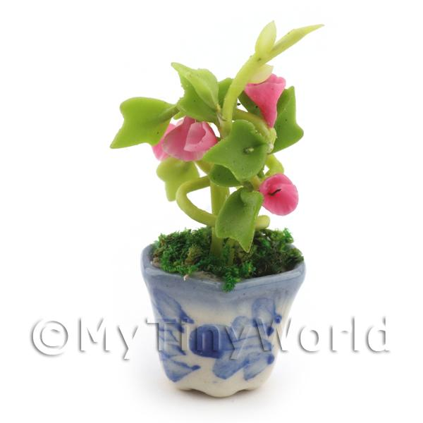 Dolls House Miniature Red Hollyhock Plant