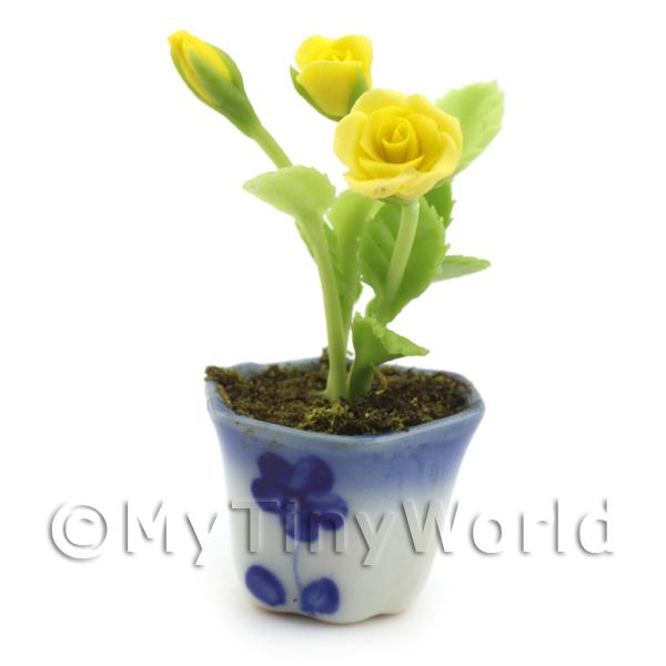 Dolls House Miniature  | Dolls House Miniature Yellow Roses