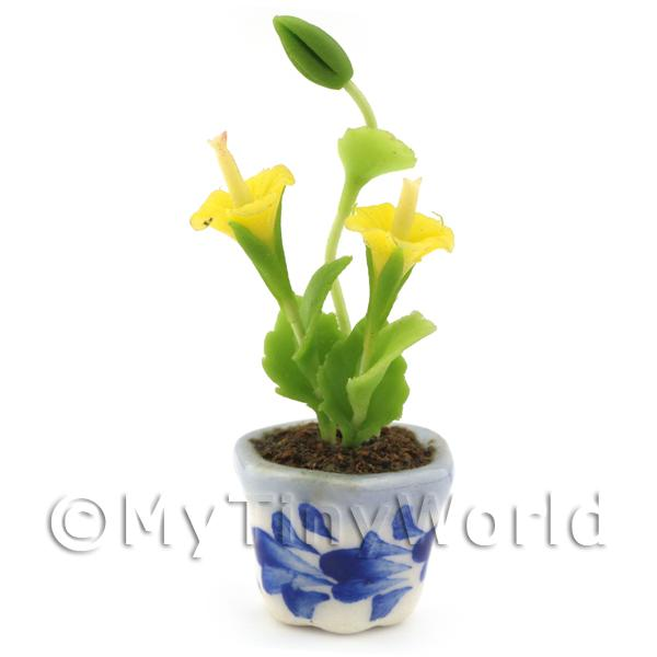 Dolls House Miniature Yellow Hibiscus
