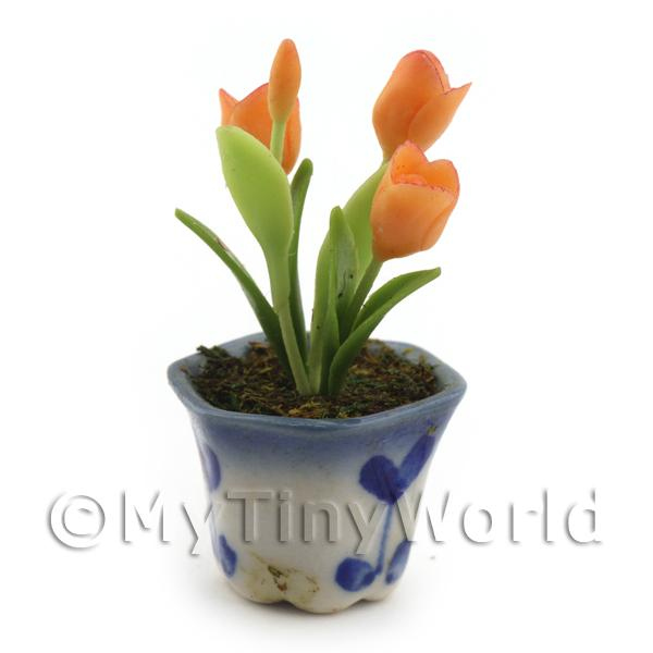 Dolls House Miniature Orange Tulip