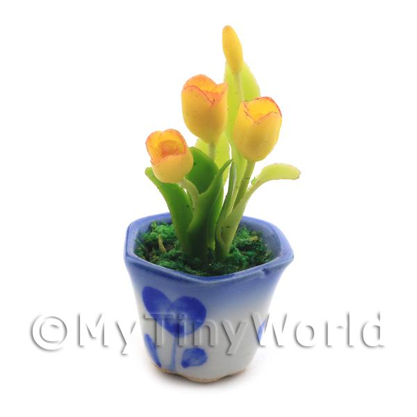 Dolls House Miniature Yellow Tulips