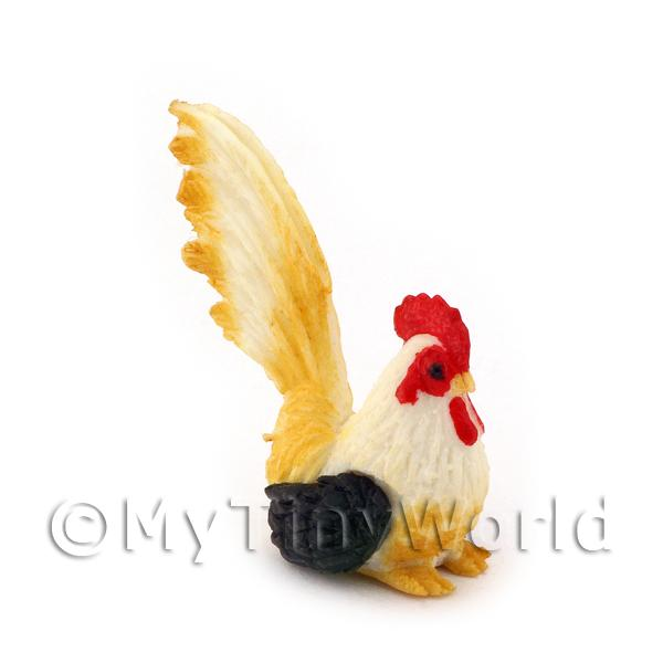 Dolls House Miniature  | Dolls House Miniature  Black, White and Yellow Cockerel