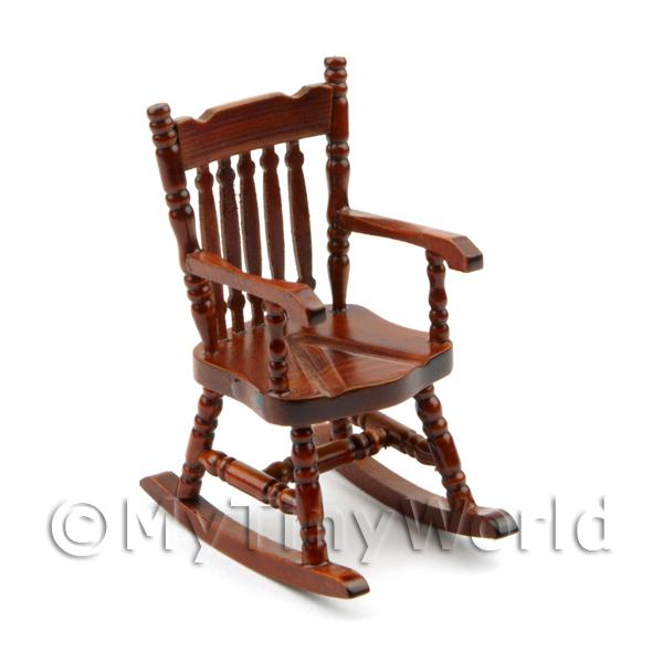 furniture value chairs dolls house miniature mahogany rocking chair