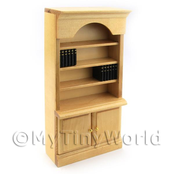 Dolls house Miniature Pine Bookcase
