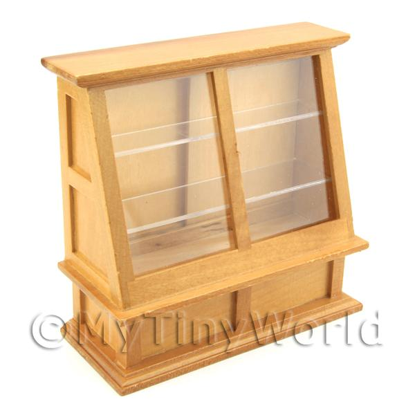 Dolls House Miniature Angled Display Cabinet
