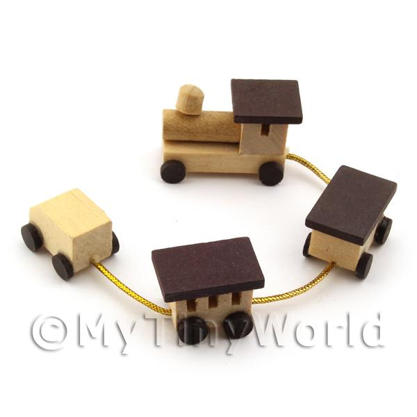 Dolls House Miniature  Wooden Toy Train