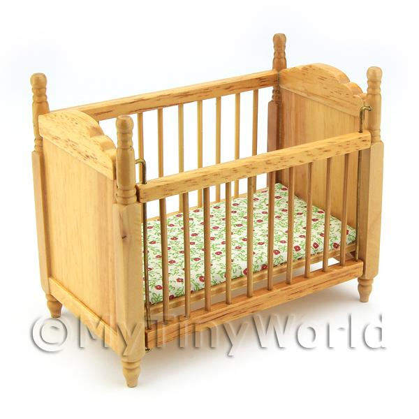 Dolls House Miniature  | Dolls House Miniature Pine Cot