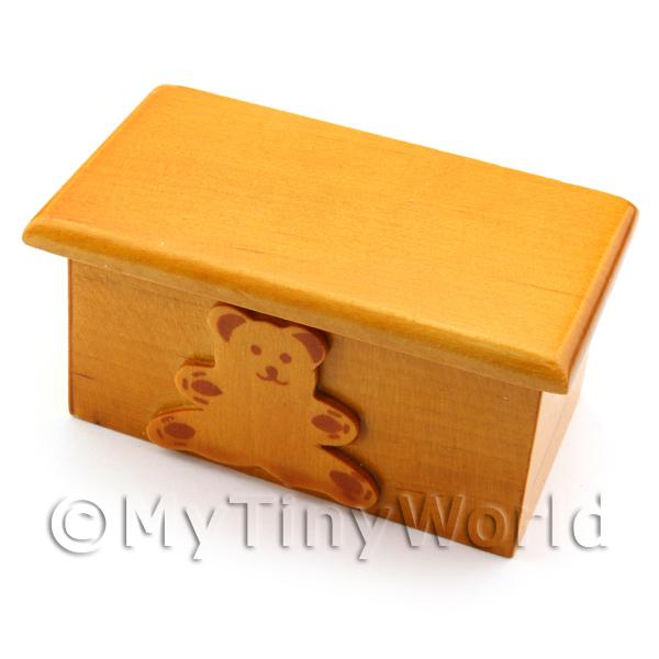 Dolls House Miniature  | Dolls House Miniature Childrens Wooden Toy Box