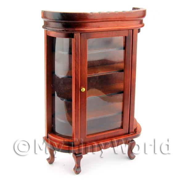 Dolls House Miniature  | Dolls House Miniature Mahogany Display cabinet