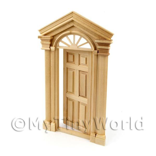 Dolls House Miniature  | Dolls House Miniature External Door With Portico