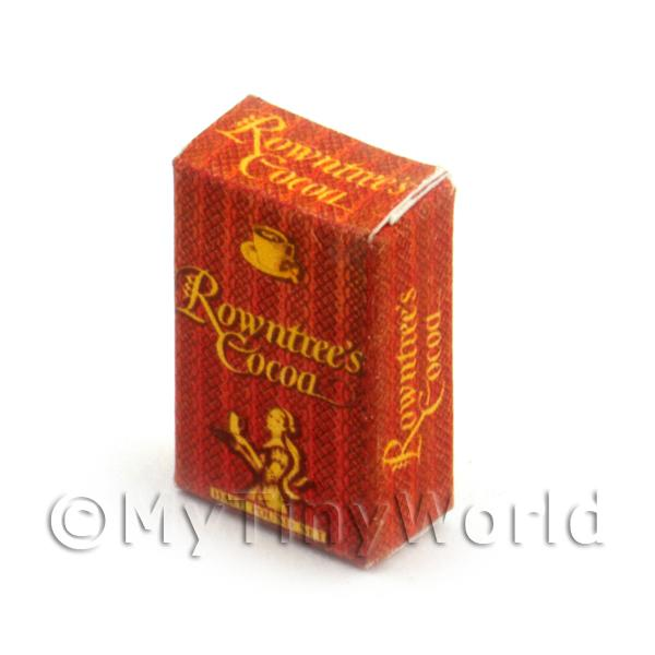 Dolls House Miniature  | Dolls House Miniature Rowntrees Cocoa Powder Box