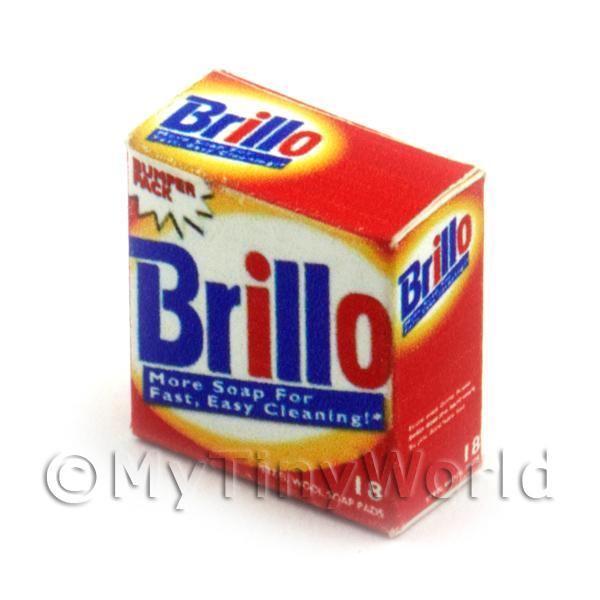 Dolls House Miniature  | Dolls House Miniature Brillo Cleaning Pads Box