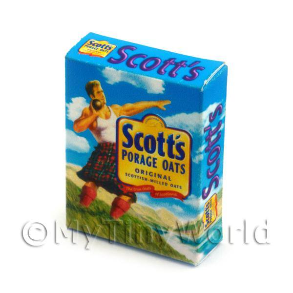 Dolls House Miniature  | Dolls House Miniature Scotts Porage Oats Box