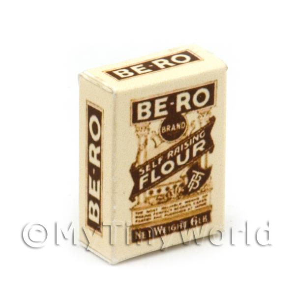 Dolls House Miniature  | Dolls House Miniature Brown And White Bero Flour Box
