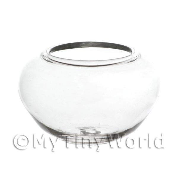Dolls House Miniature Handmade Glass Fish Bowl