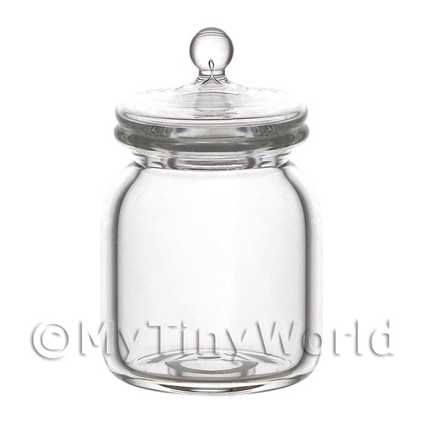 Dolls House Miniature Handmade Cookie Style Jar With Removable Lid