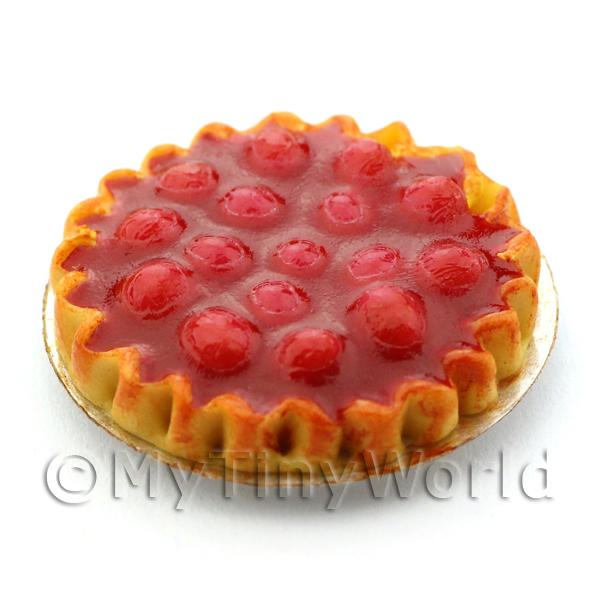 Dolls House Miniature Deep Filled Strawberry Pie