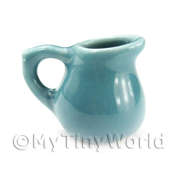 Dolls House Miniature  | Dolls House Miniature Aquamarine Ceramic Rounded Water Jug