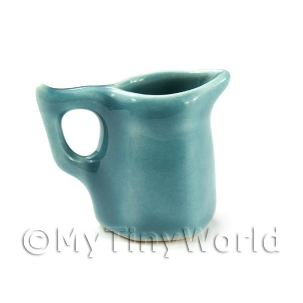 Dolls House Miniature Aquamarine 6 Sided Ceramic Water Jug
