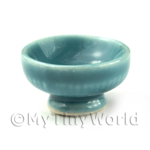 Dolls House Miniature  | Dolls House Aquamarine 23mm Ceramic Fruit Bowl