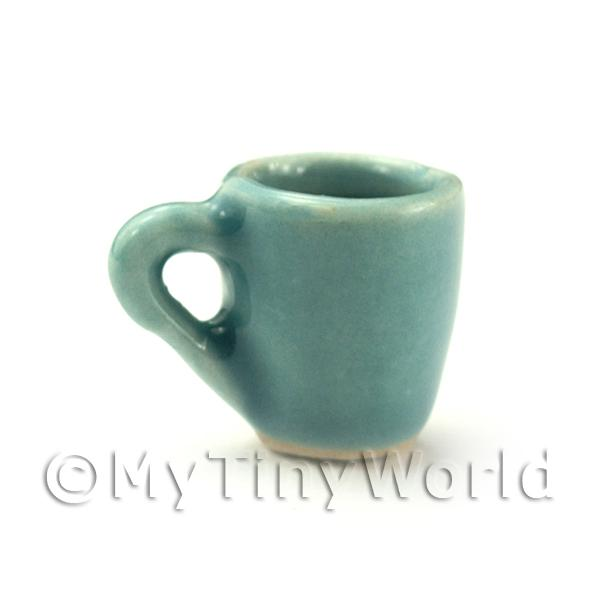 Dolls House Miniature  | Dolls House Miniature Aquamarine Ceramic Soup Mug